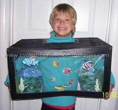 Aquarium Costume - great home made costume idea. #costume #kids #halloween