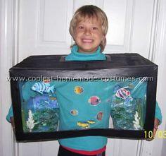 Aquarium Costume - great home made costume idea. #costume #kids #halloween