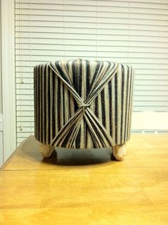 Up cycled Wire Spool Ottoman/ Foot Stool by KalebsWoodAndGlass, $45.00