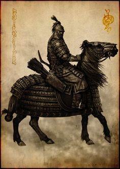 """Giranii Kintschal Ulagan - Kriegerkommandant der tulurischen Reiterhorden, Befehlshaber eines """"Giran"""" (Clan) der Tulurrim, Herkunft: Tulursteppe"""