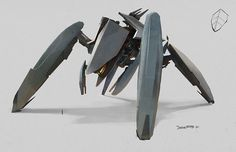 4 legged mech, could be interesting to animate a model of this