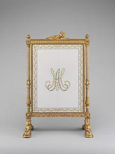 Jean-Baptiste-Claude Sené (1748–1803). Set of furniture (daybed, armchair, and fire screen), 1788. The Metropolitan Museum of Art, New York. Gift of Ann Payne Blumenthal, 1941 (41.205.1–.3a, b) #paris
