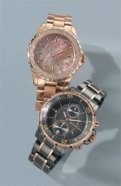 26a080b9442bf Michael Kors  Runway  Grey Mother-of-Pearl Watch in Rose Gold.