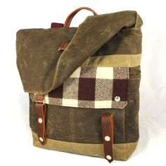 Lumberjack Waxed Canvas Backpack by WoolyBison on Etsy, $185.00