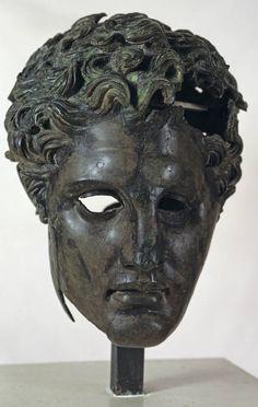 """""""Retrato en bronce de un Diádoco"""", Anónimo, 290-280 a.C., Bronce. Museo Nacional del Prado."""