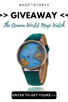 Love traveling? Enter our giveaway to receive your FREE world map watch! Limited supply available so get in quick!