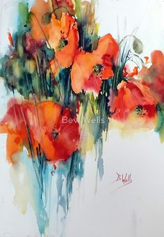 Poppy by Bev Wells - watercolor