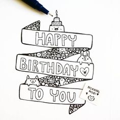 3d Birthday Card Doodle Diy Drawing Drawn
