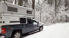 """Cold weather camping with a Four Wheel Camper, plus 100 proven tips to make winter camping warm, comfortable, and fun.  <a href=""""http://www.truckcampermagazine.com/question-of-the-week/100-winter-truck-camping-tips/"""" rel=""""nofollow"""" target=""""_blank"""">www.truckcamperma...</a> Arctic Fox"""