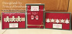 Tracy Abrahams : Christmas Cards Using CANDY CANE LANE Designer Ser...