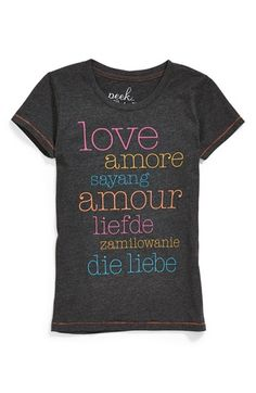 Peek 'Love' Tee (Toddler Girls, Little Girls & Big Girls) available at #Nordstrom
