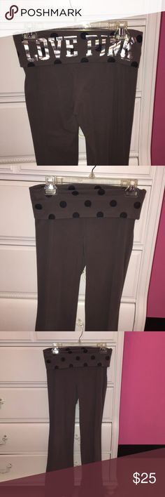 PINK yoga pants Grey bootcut yoga pants from PINK. Great condition PINK Victoria's Secret Pants Leggings