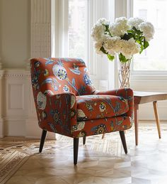 Features Dwellstudio For Ra Home Auretta Fabric In Persimmon Design Upholstery