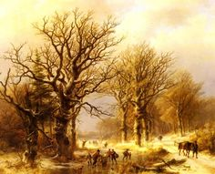 Oil Paintings Gallery | Johann Bernard Klombeck (1815-1893) | Klombeck_Johann_Bernard_Winter_