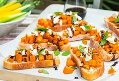 A new spin on classic bruschetta, this recipe features pumpkin and goat's cheese.