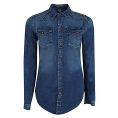 Image result for fitted women denim shirt