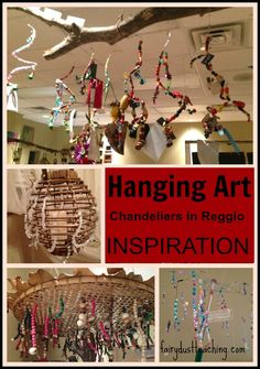 Reggio Inspired Reggio Art Chandelier in the Rosa Parks Classroom from Fairy Dust Teaching