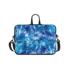 """Nautical Print Laptop Case Ocean Beach Blue Net Print Laptop Handbags 17"""".Nautical Print Laptop Case Ocean Beach Blue Net Print"""