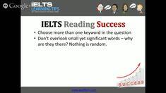 Choosing the right keywords in IELTS reading