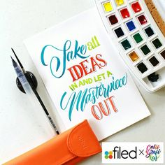 Calligrafikas — Take all ideas in and let a Masterpiece out! ... Hand lettering…