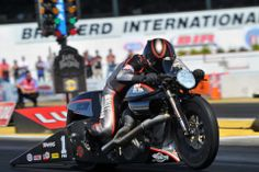 Harley-Davidson Screamin' Eagle/Vance & Hines rider Ed Krawiec scored his third consecutive Pro Stock Motorcycle drag racing final-round victory and sixth of the season at the Lucas Oil NHRA Nationals at Brainerd International Raceway.