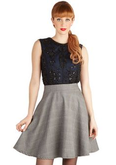"Schooltime Sparkle Skirt, size large. Waist measures about 15"". #modcloth  Swap or $25 shipped"