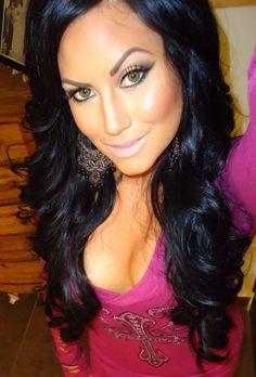 hair, makeup, earrings