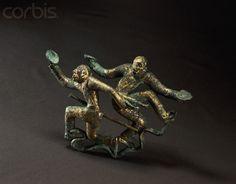 Western Han Dynasty 漢代  bronze sculpture of plate dancers.