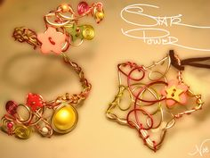Star power - cuff and pendant by colourful-blossom.deviantart.com on @deviantART