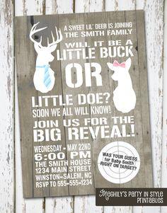 Hunting Theme - Deer Gender Reveal Invitation