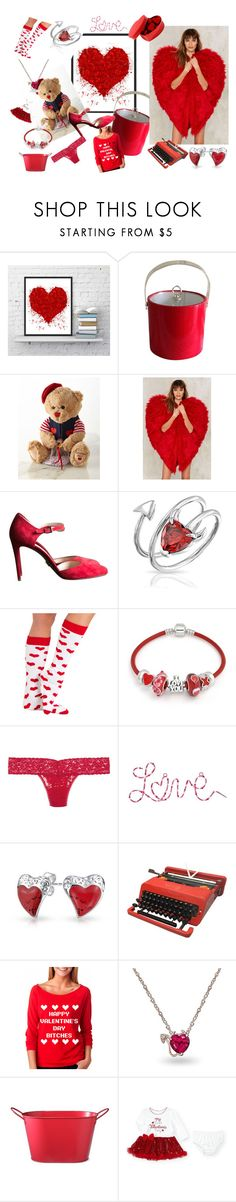 """Happy Valentines day"" by oldcastlechrista ❤ liked on Polyvore featuring Godiva, Nasty Gal, Prada, Bling Jewelry, Hanky Panky and valentine"