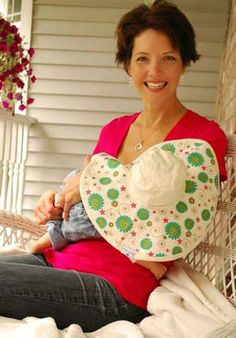 MoBoleez Breast Feeding Hats--great idea for nursing on the beach, etc!  Protection from the sun and extra privacy without a hot cover-up or blanket :)