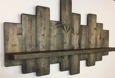 offset shelves, wooden shelves, shabby chic decor, rustic home decor Shabby Chic Decor, Rustic Decor, Farmhouse Decor, Pallet Shelves, Rustic Shelves, Palet Shelf, Barn Wood Shelves, Diy Wooden Shelves, Rustic Coat Rack