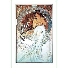fabric panel - painting by Alphonse Mucha (27)