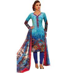 Cotton Printed Sober Embroidery Salwar Kameez Suit #NewStuff #LowestPrice #FreeShipping #DressMaterial #ShopNow #SalwarSuit #SalwarKameez #Designer