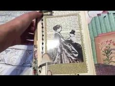 """August DT project for EVG """"Miss Lady Fay"""" altered book- junk journal - YouTube"""