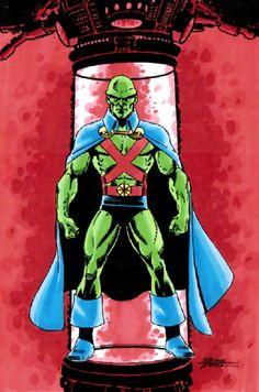 J'Onn J'Onzz, Martian Manhunter. Art by George Perez.
