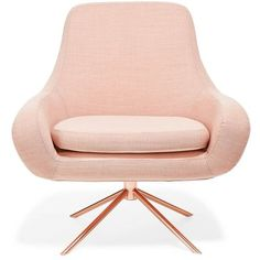 I am not a pink type person.but soften dusty effect which is between pink and cream with rose gold is amazing. Pale pink mid-century chair with rose-gold legs Rose Gold Room Decor, Rose Gold Rooms, Gold Bedroom Decor, Room Ideas Bedroom, Bedroom Chair, Rose Gold Bedroom Accessories, Furniture Slipcovers, Slipcovers For Chairs, Slipcover Chair