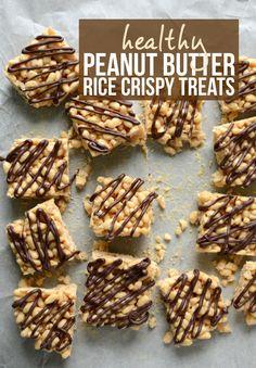 Healthy Peanut Butter Rice Crispy Treats