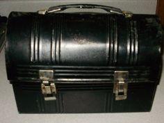 Vintage Black Metal Lunchbox. $14.00, via Etsy.
