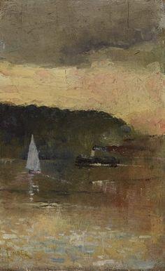 Charles Conder Sunset Sydney Harbour c1888