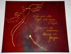 Acrylmalerei - SeptemberWein - Engel - Energie & Harmoniebild - ein…