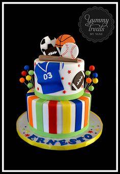Sports Cake! (Theme Cake Boy)