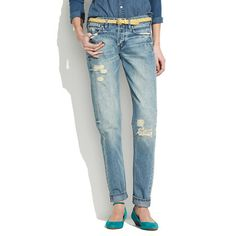 Madewell Rivet Thread Worker Jeans in Dovetail Wash in Blue (dovetail) | Lyst