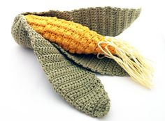 Crochet Toy  Corn  Cotton  Yellow Green   for baby / by CasaDeGato, $15.00