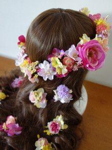 お色直しに☆ ピンクとパープル、イエローのアイテムセット♡ |Ordermade Wedding Flower Item MY FLOWER ♪ まゆこのブログ