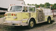"""Former Hose Wagon 2"" 1980 American LaFrance Century 1000/750 Reg. # CE-6901  Former ""Engine 11""  Found along I-81 in Virginia  Micah Bodford Photo"