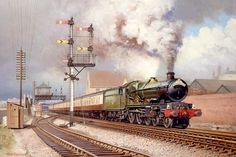 Railway and landscape paintings by artist Rob Rowland GRA Train Pictures, Old Pictures, Dartmouth Castle, Fabian Perez, Train Room, Alex Colville, Steam Railway, Henri Rousseau, Train Art