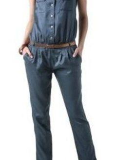 Combinaison pantalon grise satinée avec ceinture couleur cuivre. Couleur  Cuivre, Combinaison Pantalon, Ceinture 8e14d31187c