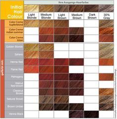 Hair Color Chart Choose The Shades Of Red Or Brown Hair Colour For Your  (Honey Auburn Hair)